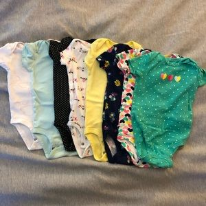 Baby girl Carter's onesies size 3-6 months